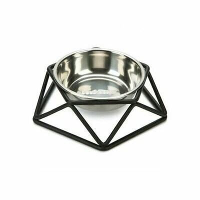Beeztees stainless bowl puroni black medium