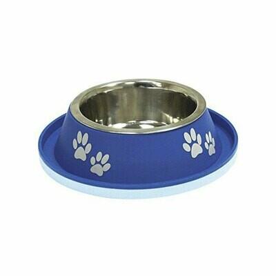Croci steel bowl blue no spill 400ml - 20cm