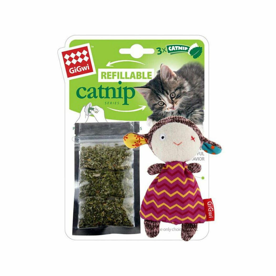 Gigwi refillable catnip girl