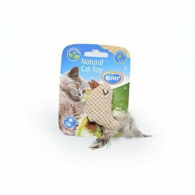 Duvo cat toy nature with catnip bird or mouse shape