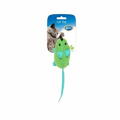 Duvo cat toy mouse green with catnip