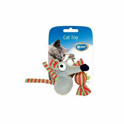 Duvo cat toy mouse and candy with catnip