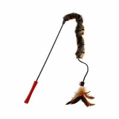 Gigwi cat wand natural feather teaser