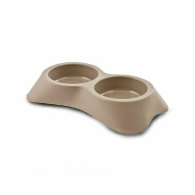 Nuvola plastic double bowl beige