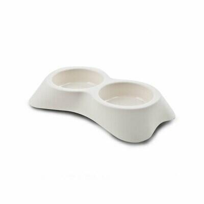 Nuvola plastic double bowl off-white