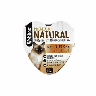 Webbox natural wet food with turkey in jelly 85g