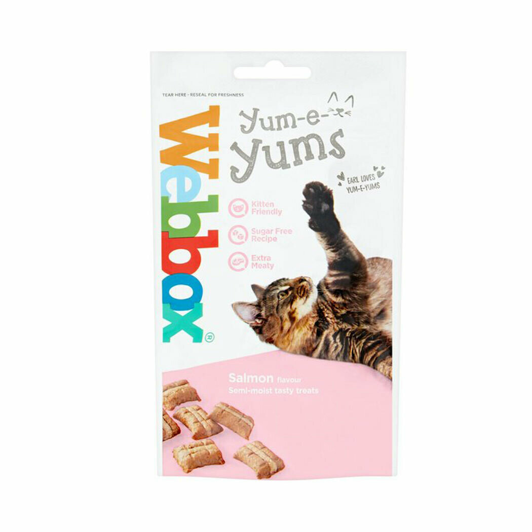 Webbox yum-e-yums semi moist treats salmon flavor 40grs