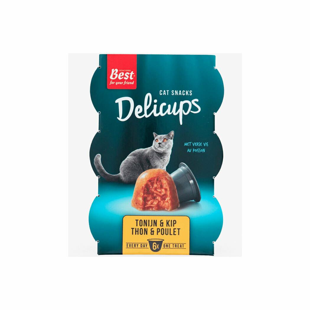Best delicups catsnack tuna & chicken 6 x 22grs