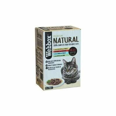 Webbox natural gravy selection 12 x 100 grs