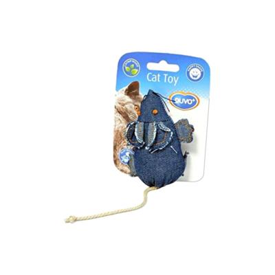 Duvo cat toy denim mouse