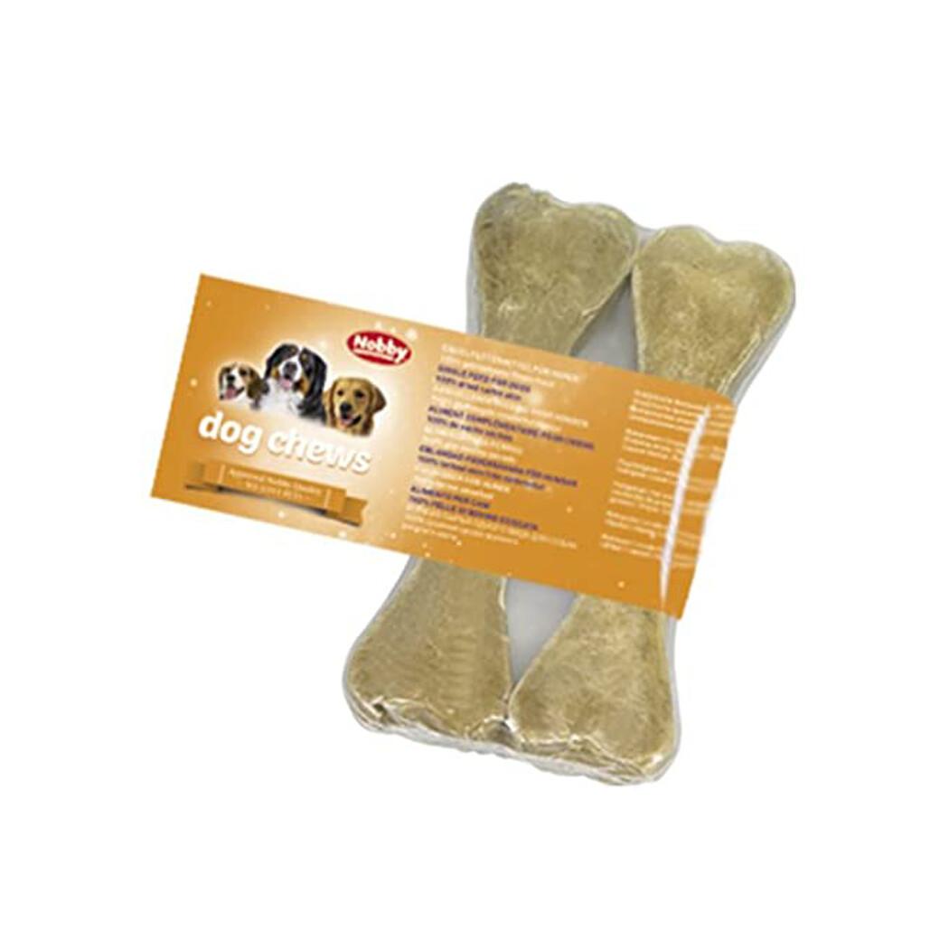 Rawhide bones pressed 21cm - 2 pcs