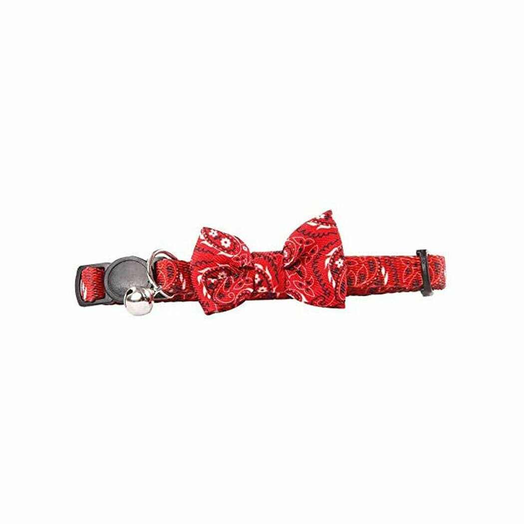 Pawise cat collar bowknot red