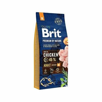 Brit dog chicken 45% adult medium 3kgs