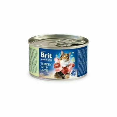 Brit cat can turkey & lamb 200grs