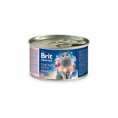 Brit cat can chicken with heart 200grs