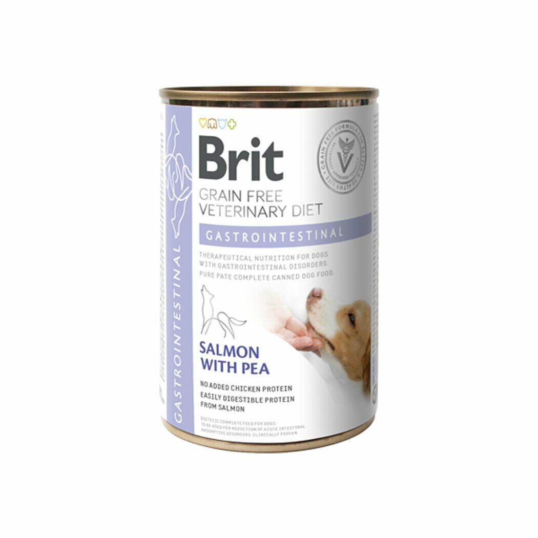 Brit grain-free veterinary diet gastro-intestinal salmon with peas 400grs