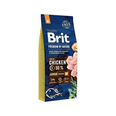 Brit junior dog medium (10-25 kgs) with 50% chicken 15kgs