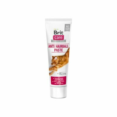 Brit care cat hairball paste + taurine 100grs