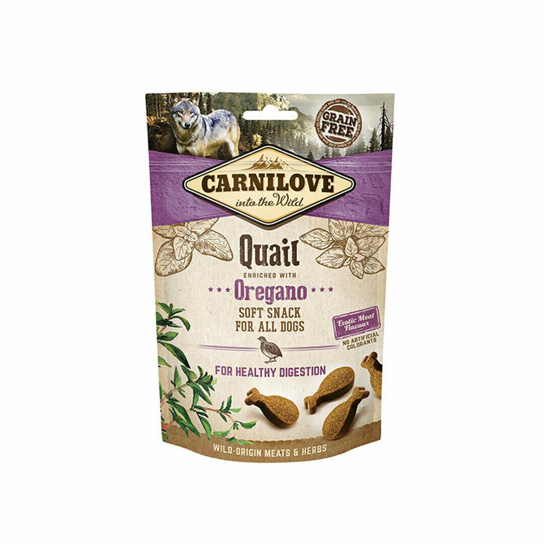 Carnilove quail with oregano soft snack dog treats 200grs