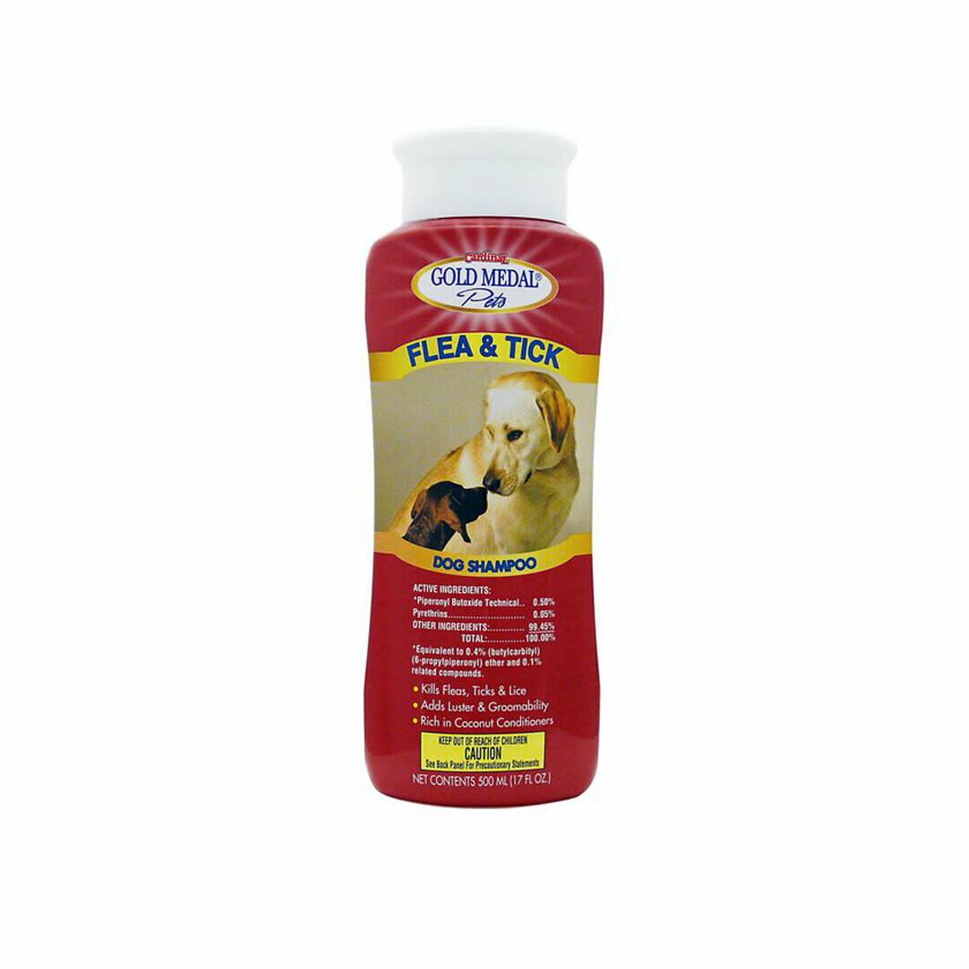Gold medal pets flea and ticks shampoo 500ml