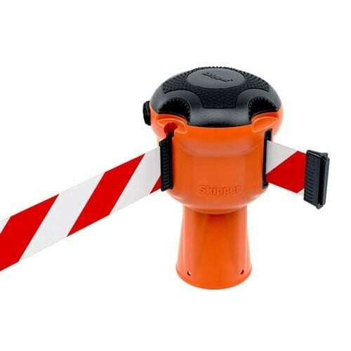SkipperTM 9m Retractable Tape Barrier for Traffic Cone