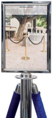 Sign Holder A4 for Classic Chrome Barrier Post Stanchion