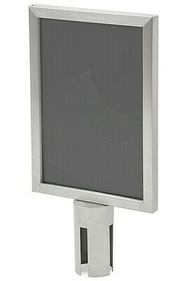 Sign Holder A4 for Chrome Budget  Retractable Barrier