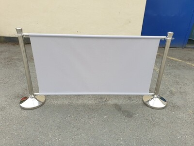 Cafe Barrier with Banner and 2 Posts
