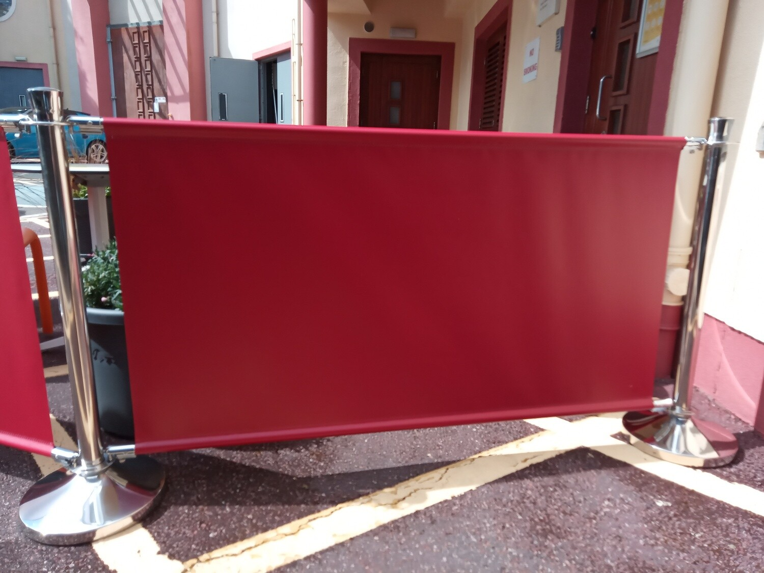 Cafe Barrier Extension with Banner and 1 Post