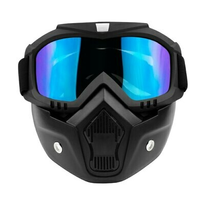 Full Face Detachable Ski - Snowboard Mask With Goggles