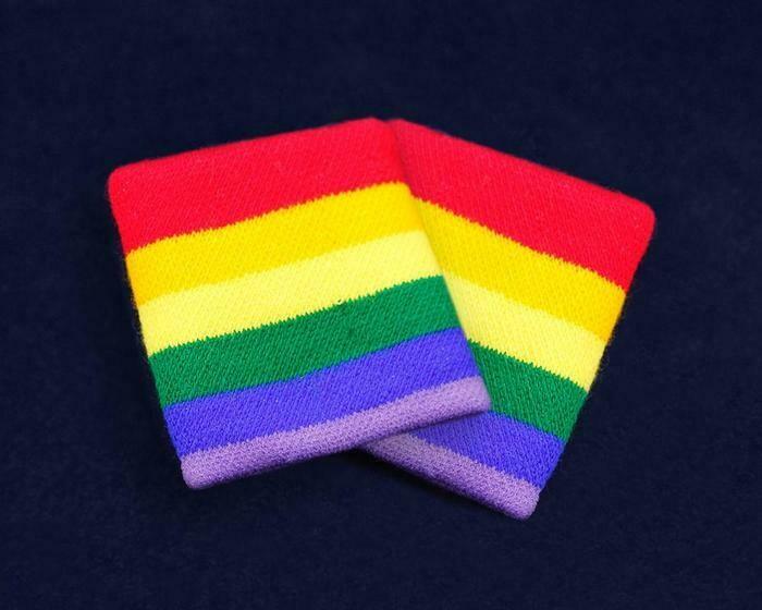 Rainbow Striped Sport Sweat Bands/Wristbands