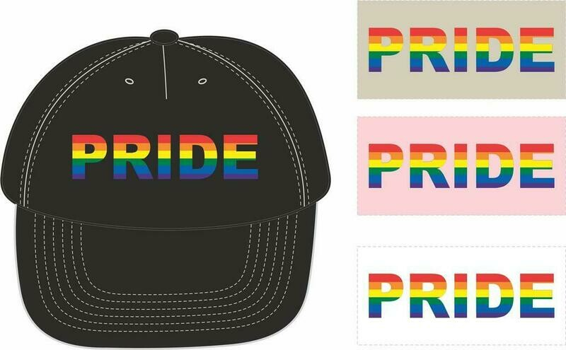 Cotton Twill Cap - Embroidered with the word Pride comes in the following colors:  Black, Light Khaki, Pink or  White