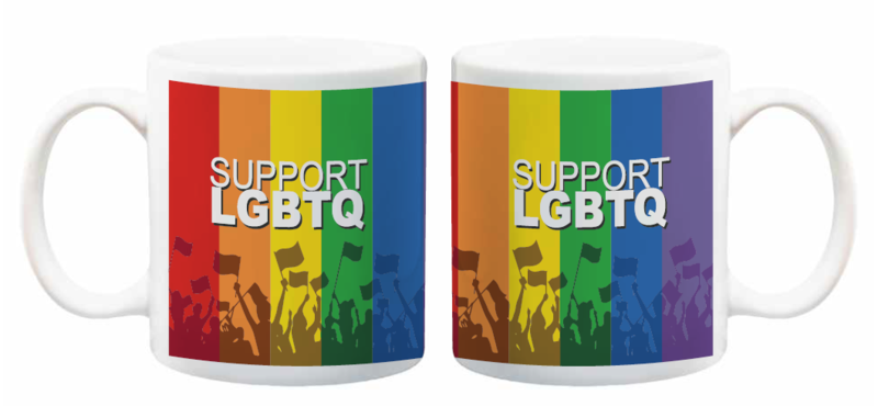 Support LGBTQ Mugs 11 oz