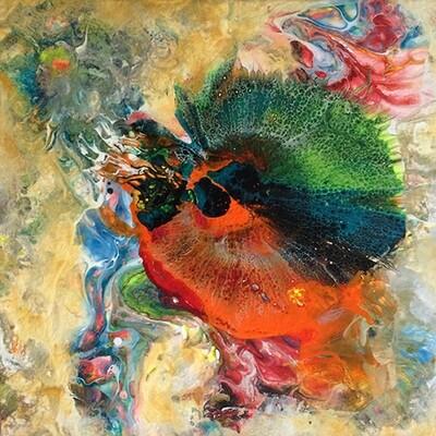 Fantasia 2, acrylic on canvas, 8