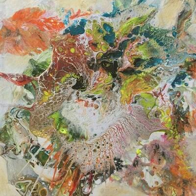 Fantasia 4, acrylic on canvas, 8