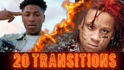 20 Burn Transitions 4k quality