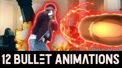 12 Flying Bullet Animations