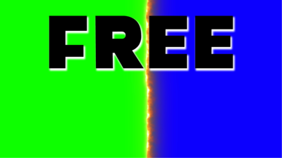 Free fire transition green screen