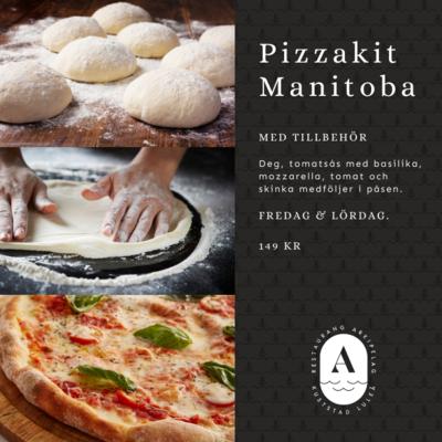 Pizzakit - Deg och toppings