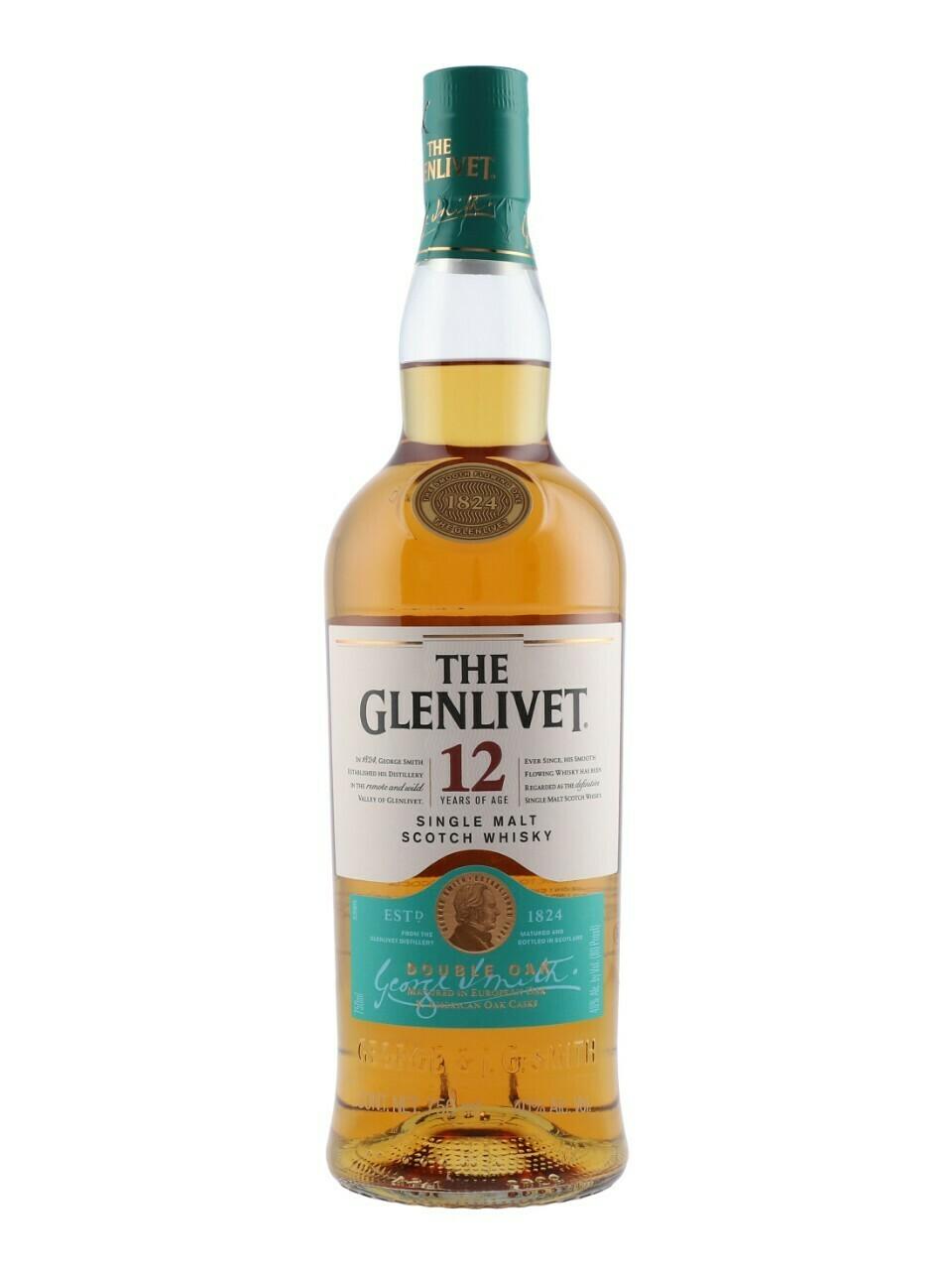 The Glenlivet 12 Year Old Single Malt Scotch Whisky