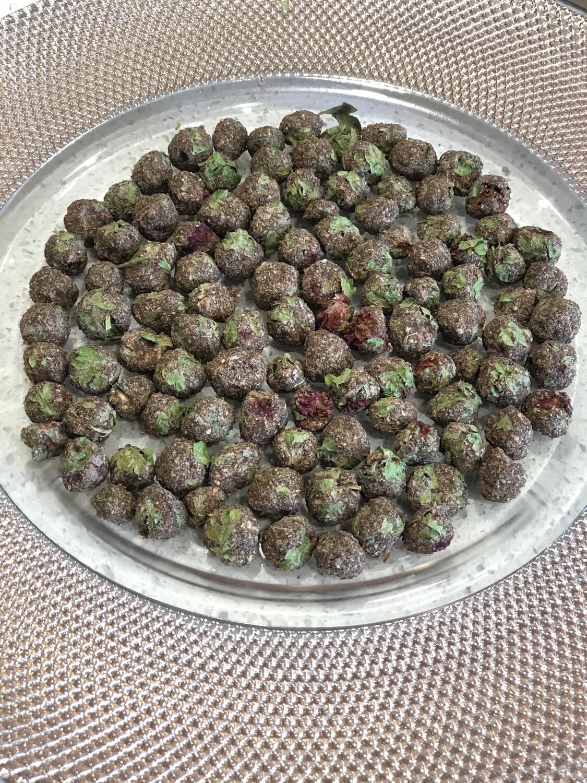 Raspberry & Parsley Mini BonBons