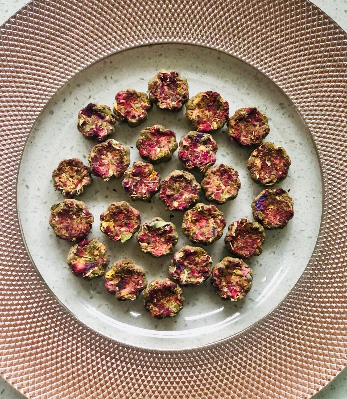 Flower Cookies with Sprinkles on Top