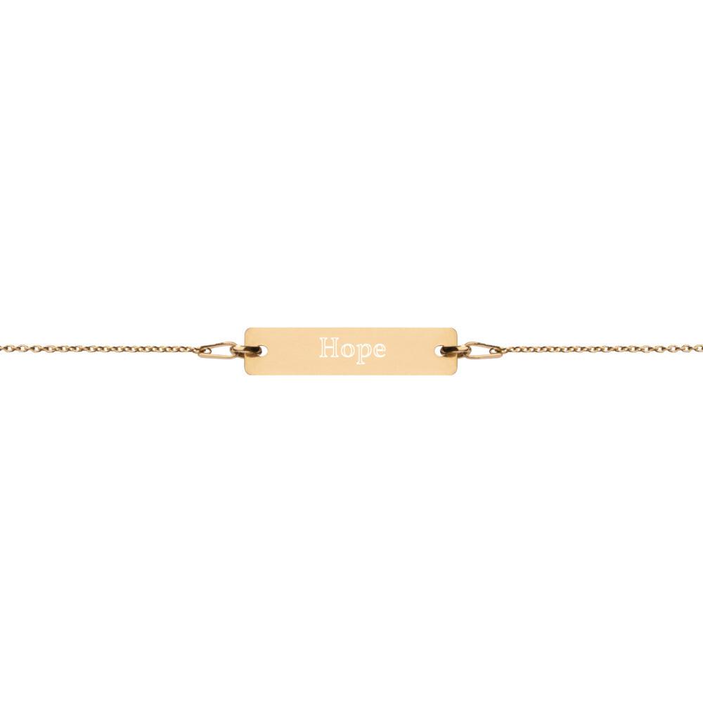 Hope Engraved Chain Bracelet