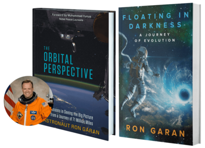 Signed copy of Ron Garan's book The Orbital Perspective PLUS a pre-release copy of his new book Floating in Darkness and other bonuses for over 70% off!