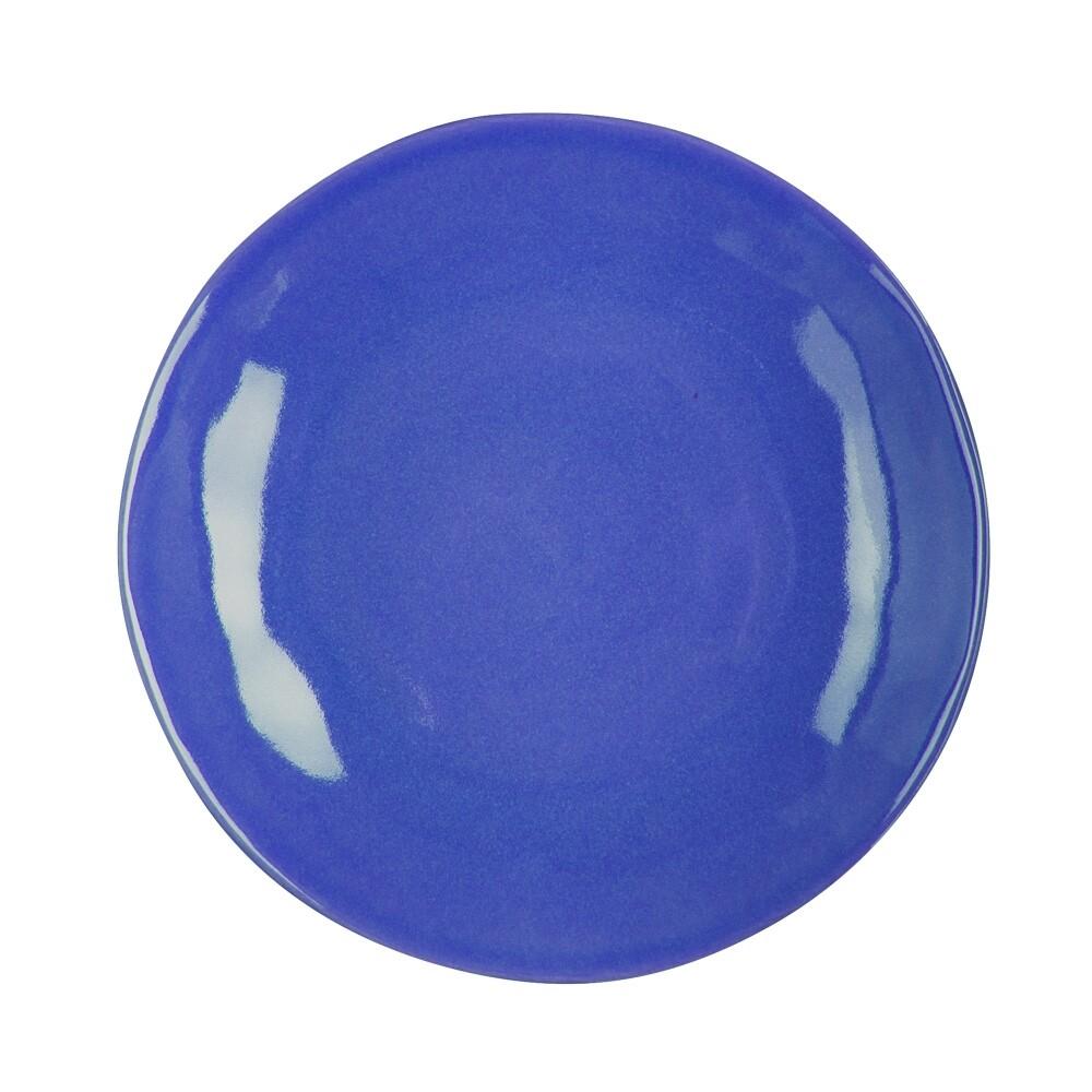6 Assiettes plates Hawaï bleu