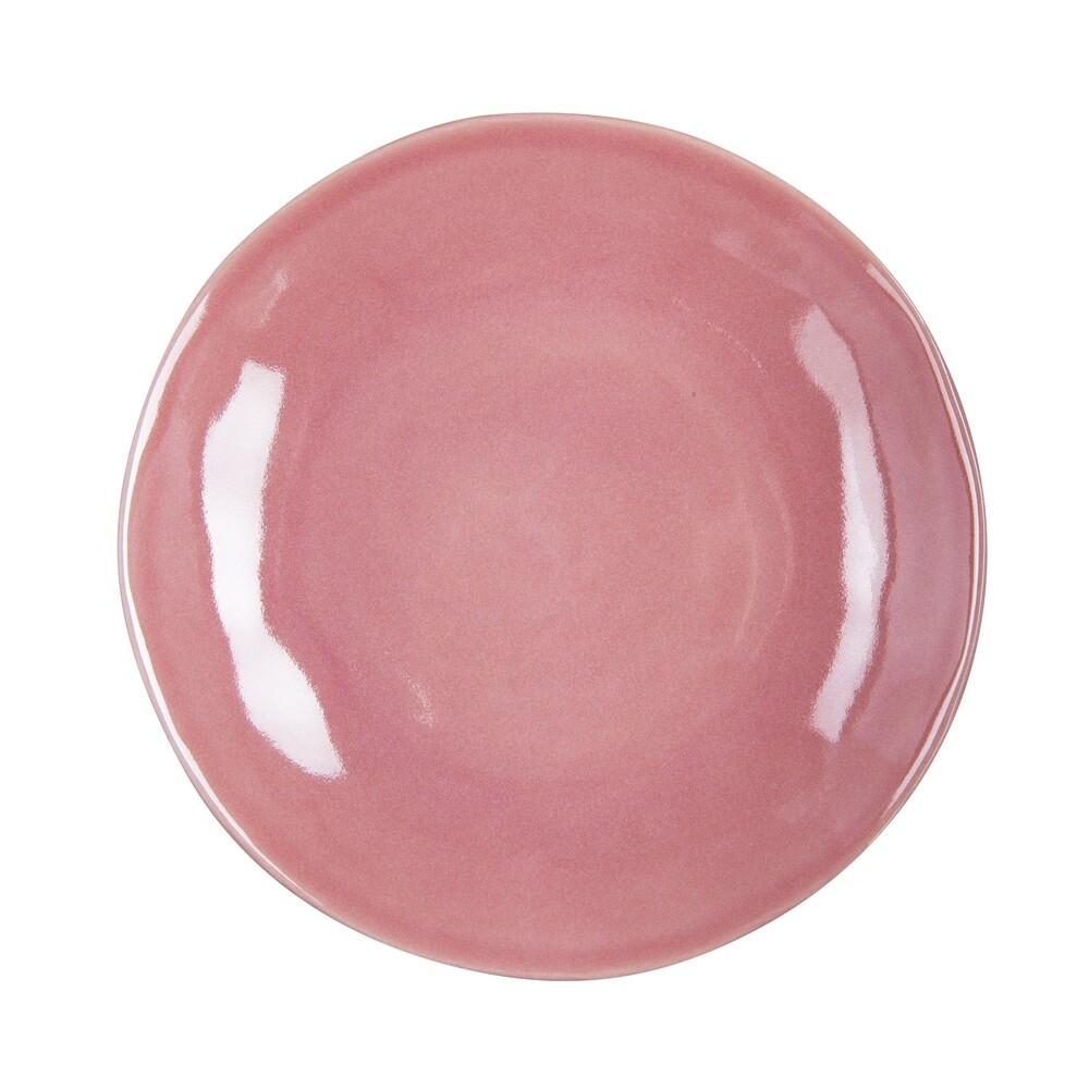 6 Assiettes plates Hawaï rose