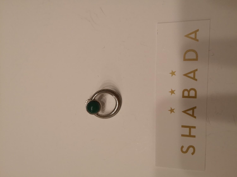 Boucle d'oreille argent jade