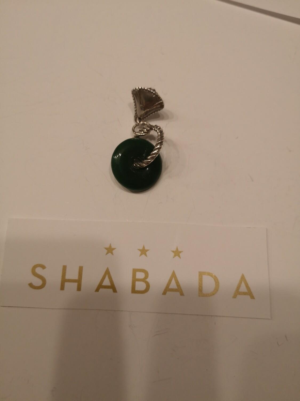 Boucle d'oreille argent Saguaro jade