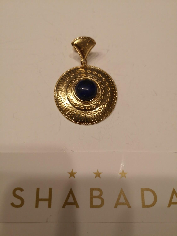 Boucle d'oreille dorée lapis lazuli