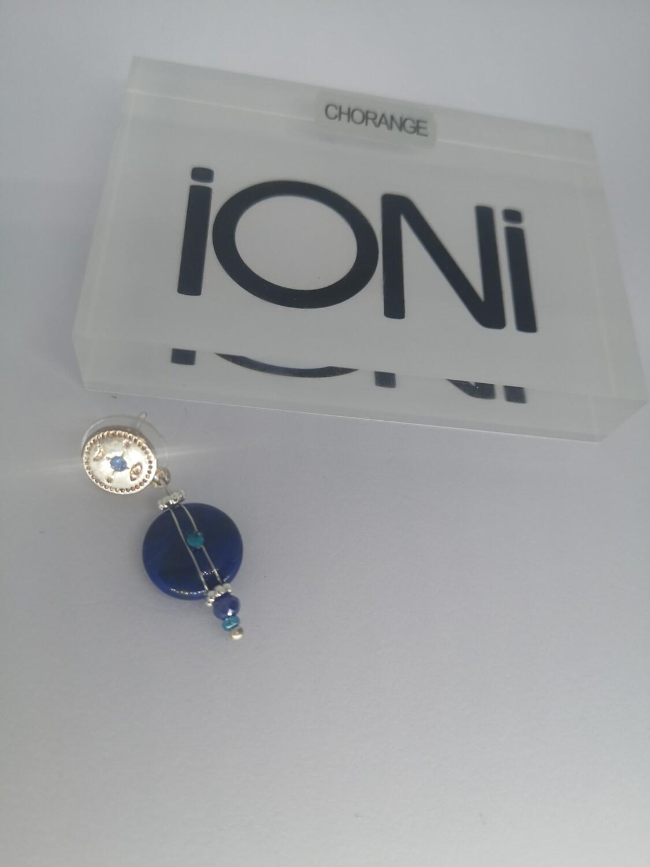 Boucle d'oreille argent lapis-lazuli